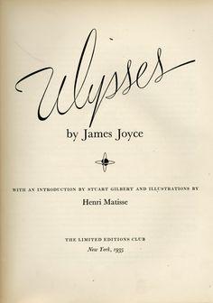 Ulysses, illustrated by Henri Matisse, 1935
