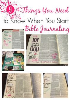 You don't have to know how to hand letter or draw to journal in your Bible. Here are 9 things you need to know when you start Bible Journaling.