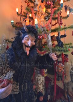 Krampus (a devil-like creature found in various European countries' folklore) by artist Scott Smith of Rucus Studio. Photo Courtesy of: Scot...
