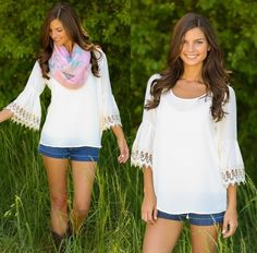 Such a cute top from Red Dress Boutique! I love the detail on the sleeves!