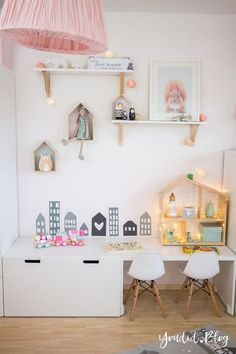 Color effect on babies and toddlers - our Scandinavian children's room with Alpina - Youdid - Kinderzimmer - Babyzimmer Ikea Toddler Room, Ikea Kids, Ikea Girls Room, Playroom Decor, Baby Room Decor, Wall Decor, Ikea Dollhouse, Kids Room Design, Baby Bedroom
