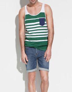 STRIPED VEST TOP - T-shirts - Man - ZARA Hong Kong