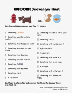scavenger hunt ideas for kids indoor Free printable Scavenger Hunts; Three Easy, No-Prep, Super-Fun Scavenger Hunts by ROCmomma Indoor Activities For Kids, Toddler Activities, Learning Activities, Preschool Activities, Summer Activities, Virtual Games For Kids, Scout Activities, Indoor Games, Holiday Activities