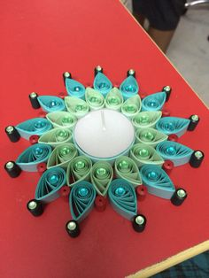 Quilled t light