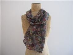 anemone flower Sophie Digard Scarf