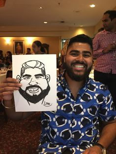 A caricature drawn at a recent event from Lina the caricature artist Caricature Artist, Caricature Drawing, Recent Events, Caricatures, Cartoon, Portrait, Drawings, Illustration, Engineer Cartoon