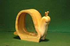 Wooden Snail Bank by DWSudekum on Etsy