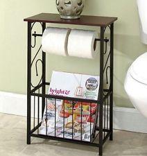 Toilet Tissue Paper Holder Storage Magazine Rack Stand Organizer Bathroom  Table