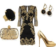 """""""Champagne night"""" by karlamckay on Polyvore"""