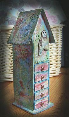 House matchbox drawer:
