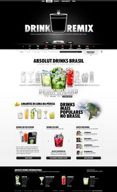 Absolut Drinks Brasil by André Mancini dos Santos, via Behance