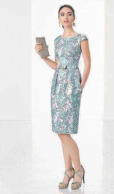 Vestido de cóctel de Rosa Clará Elegant Dresses Classy, Elegant Outfit, Classy Dress, Beautiful Dresses, Casual Dresses, Formal Dresses, Bodycon Outfits, Dress Outfits, Fashion Dresses