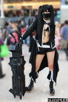 Cute Black Rock Shooter Anime Cosplay from Anime Expo 2013