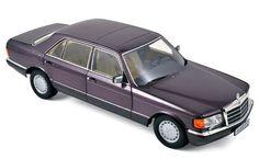 Mercedes-Benz 560 SEL 1991 - Purple Metallic - Car models - Die-cast | Hobbyland  Scale model car made of metal / Die-cast / in 1:18 scale manufactured by Norev.