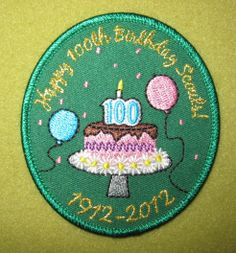 Girl Scout 100th Anniversary Birthday patch. Thank you, Michelle!