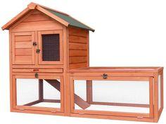 "Amazon.com : Merax Pet Supplies Wood House Rabbit Hutch Outdoor Run, 56""L X 25.6""W X 39""H : Pet Supplies"
