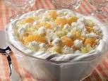 Ambrosia Bavarian---I added drained Mandarin Oranges and Marshmellows to mine! :)