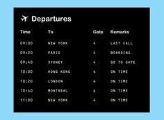 Airplane Birthday Party Departures or Arrivals Board