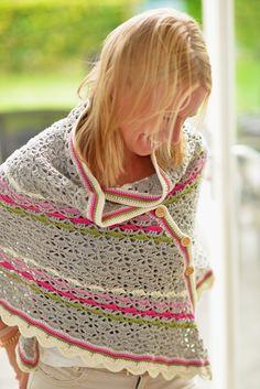 Gehaakte Southbay sjaal met knopen Jip by Jan