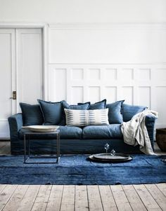 Blue couch - Designer's Take {Jacquelyn Clark}