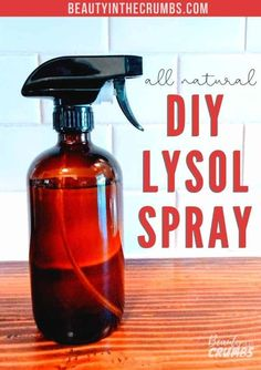 Homemade Disinfecting Spray Homemade Disinfecting Spray,Homemade Cleaning Products An ALL NATURAL way to kill germs and bacteria without using toxic chemicals. This homemade disinfectant spray (like Lysol) is easy to make, only takes a.
