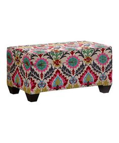 Love this Santa Maria Desert Flower Upholstered Storage Bench by Skyline Furniture on #zulily! #zulilyfinds