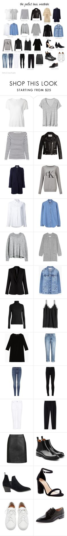 """The perfect basic wardrobe"" by uselessdk ❤ liked on Polyvore featuring R13, Acne Studios, STELLA McCARTNEY, Calvin Klein, Misha Nonoo, MANGO, By Malene Birger, Raey, Max&Co. and 7 For All Mankind"
