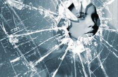 As you can see in this picture, there's a girl inside the broken glass. I cut… Photoshop Pro, Sketches Of Girls Faces, Girl Sketch, Broken Glass, Scary Movies, The Girl Who, Girl Face, Girl Pictures, Love