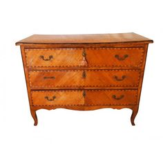 Italian 18th Century Marquetry 3 drawer chest