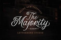 Buy The Majority Script by letterhend on GraphicRiver. Another one from us, The Majority Script. A classy script that beautifully flow and bring the luxury feel. This font . Modern Script Font, Script Type, Cool Fonts, New Fonts, Pretty Fonts, Cursive Fonts, Handwritten Fonts, Calligraphy Fonts, Modern Calligraphy