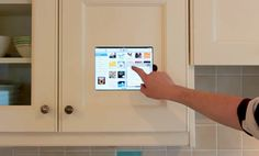iPad built into Kitchen - LuxHomes.com - The world's #1 site for luxury home connoisseurs...MUST HAVE