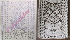 Crochet Borders, Crochet Diagram, Crochet Chart, Crochet Motif, Crochet Stitches, Knit Crochet, Vanessa Montoro, Lace Patterns, Crochet Patterns