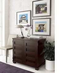 Decorating idea for the hide-away desk...  Put in guest bedroom?