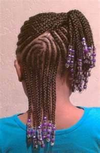 Cornrows & beads Toddler Braided Hairstyles, Lil Girl Hairstyles, Black Kids Hairstyles, Natural Hairstyles For Kids, Natural Hair Styles For Black Women, African Hairstyles, Braid Hairstyles, Simple Hairstyles, Medium Hairstyles