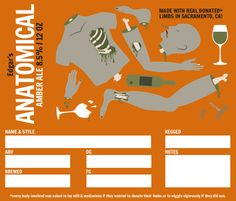 fromGrogTag: Let's get Anatomical! Just in time for Halloween, we have released our latest design, Anatomical. If you are looking for a label that shares your love of beer, Halloween, and body pa...