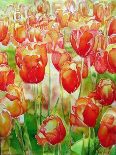 2008 Garden   Carol Carter Watercolors and Acrylics