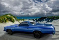 1973 El Camino in the Dunes Generation 4 1973 1974 1975 1976 1977 - Read All About It at VivaChas Automotive Art and Stories!