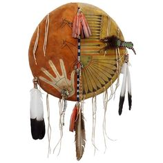 INDIAN SPIRIT GIRL WAR SHIELD #237 16 INCHES new dream catcher feathers beads