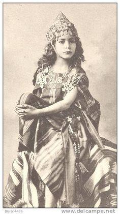 Photographe J. GEISER - Alger -Superbe Portrait d´une Fillette Kabyle - Ethnique -0rientalisme -n° 619 - PARFAIT - Delcampe.net