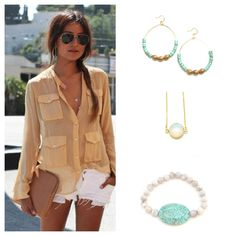 Spring Outfit Inspiration.   shop jewelry here: www.bentbycourtney.com    Photo from  sincerelyjules.com