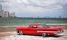 Vintage Motorcycles Muscle 1960 Chevy Impala Chevrolet Retro Red Car Auto Poster - High-quality brand new poster Chevrolet Bel Air, Chevrolet Impala 1960, Classic Chevrolet, 1961 Impala, Chevrolet Corvette, Wallpaper Cars, Images Wallpaper, Car Wallpapers, 1080p Wallpaper