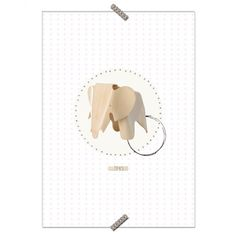 """Poster Cadeira """"Banco Elefante"""" - Fundo Branco - Coleção Mercatto Casa e Apto 41"""