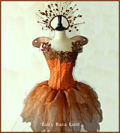 Gorgeous Woodland Fairy Costume on Etsy Woodland Fairy Costume, Faerie Costume, Queen Costume, Costume Dress, Fairy Costumes, Halloween Costume Contest, Family Halloween Costumes, Halloween Outfits, Girls Dance Costumes