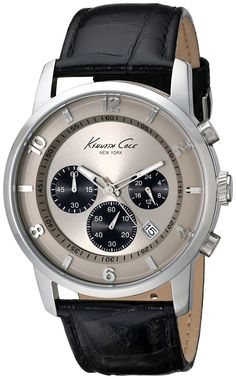 Kenneth Cole New York Men's Dress Sport Grey Chronograph Watch Cool Watches, Watches For Men, Wrist Watches, Mens Dress Watches, Hermes, Popular Watches, New York Mens, Bracelet Cuir, Seiko Watches