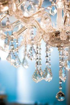 Chandelier crystals.
