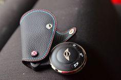 Black /M  Leather Key Fob for  JCW R55 R56 R60 R58 coupe  Mini cooper countryman