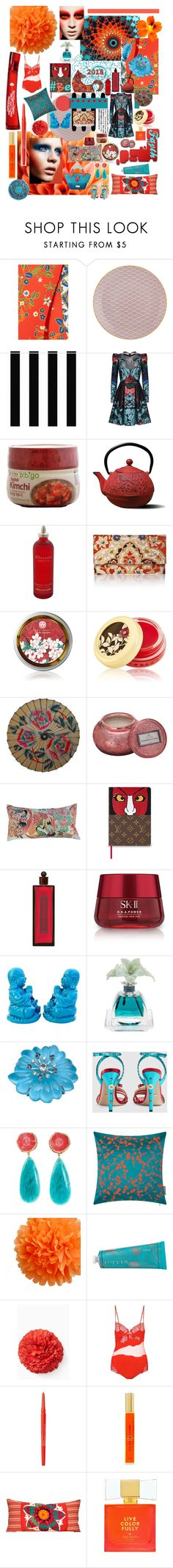 """""""Year of the Dog"""" by faythalassique ❤ liked on Polyvore featuring Tory Burch, Tokyo Design Studio, Elie Saab, Elemis, Tatcha, Voluspa, Shiseido, SK-II, Agraria and Gucci"""