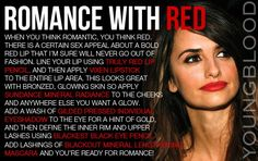 Romance with Red Tutorial using Youngblood Mineral Cosmetics.