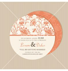 Round floral card vector by ARNICA on VectorStock®