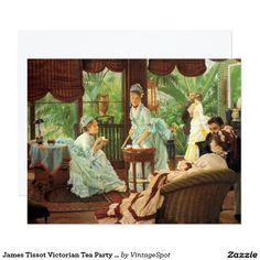 James Tissot Victorian Tea Party Invitations
